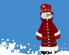 Free Mr.  Snowman Stock Photos - 6380223