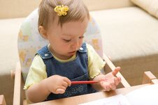 Free Baby Drawing Royalty Free Stock Images - 6380279