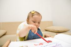 Free Baby Drawing Royalty Free Stock Photography - 6380327