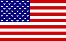 Free USA Flag Hearts Stock Image - 6380401