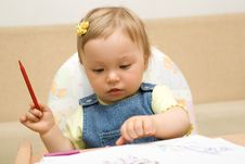 Free Baby Drawing Stock Image - 6380451