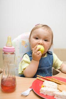 Free Eating Baby Girl Stock Photography - 6380462