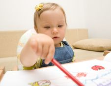 Free Baby Drawing Stock Photos - 6380523