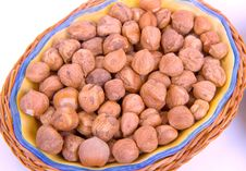 Nuts In A Wooden Plate