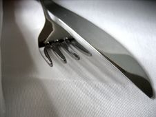 Fork With Knife Stock Photography