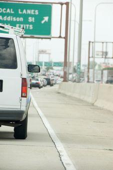 Free White Van Driving Royalty Free Stock Image - 6380766