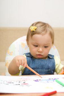 Free Baby Drawing Royalty Free Stock Photos - 6381118