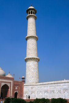 Free One Of The Minarets On The Corner Of Taj Mahal Royalty Free Stock Image - 6381246