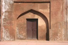 Free Colourful Doors In Agra Fort, India Stock Images - 6381414