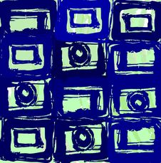 Funky Squares Background Royalty Free Stock Photo
