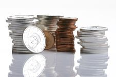 Free Silver And Gold Coins Stock Images - 6381714