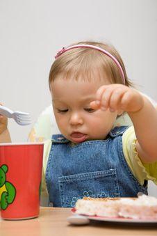 Free Eating Baby Girl Stock Image - 6381831