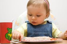 Free Eating Baby Girl Royalty Free Stock Images - 6381839