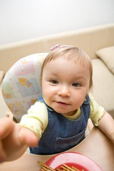 Free Eating Baby Girl Stock Photography - 6381842
