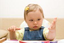 Free Eating Baby Girl Stock Photography - 6381852
