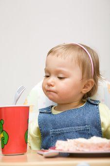 Free Eating Baby Girl Stock Image - 6381871
