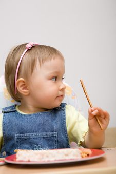 Free Eating Baby Girl Stock Images - 6381874