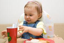 Free Eating Baby Girl Stock Photo - 6381930