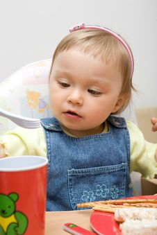 Eating Baby Girl  11 Stock Photo