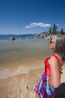 Free Woman On Beach Stock Photography - 6382822