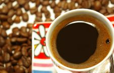 Free Closeup Cup Of Coffee Stock Photography - 6383232