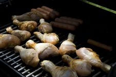 Free Drumsticks On A Grill Stock Images - 6383244