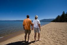 Free Couple On Beach Stock Image - 6383361