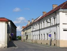 Streets Of Kaunas City Stock Images