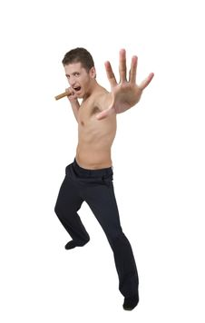 Free Man Doing Martial Arts Move Royalty Free Stock Image - 6383856
