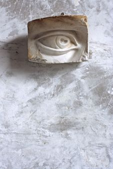 Free Plaster Model Of An Eye Stock Photography - 6383882