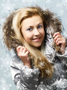 Free Girl With Fur Hood Royalty Free Stock Image - 6383986