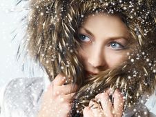 Free Girl With Fur Hood Stock Images - 6384024
