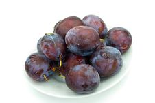 Free Stak Of Big , Ripe Plums Royalty Free Stock Images - 6384129