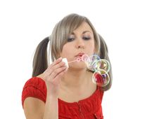 Free Blowing Bubbles Stock Photo - 6384160