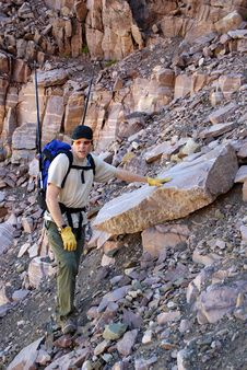 Free Climbing Rocky Ridge Royalty Free Stock Photos - 6384378