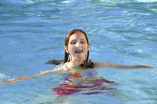 Free Young Girl In Swimming Pool Royalty Free Stock Photos - 6384408