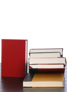 Free Hardcover Books Stacked Royalty Free Stock Image - 6384606