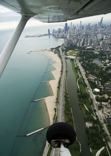 Free Overhead Of Downtown Chicago Royalty Free Stock Photos - 6384638