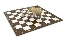 Free Elephant And Chess Stock Photo - 6384860