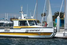 Free Fire Department Boat Stock Image - 6384871
