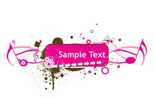 Free Sample Text With Music Theme Royalty Free Stock Image - 6385366