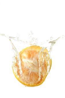 Free Orange Splash Stock Image - 6385731