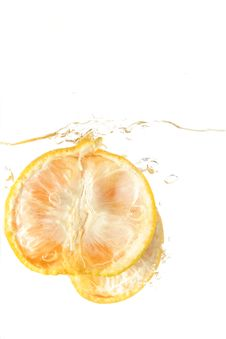 Free Orange Splash Royalty Free Stock Photo - 6385735