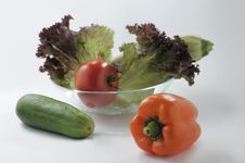 Vegetables For Salad. Stock Image
