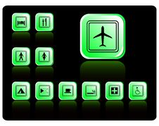 Vector Travel Icon Set Stock Images