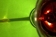Free Glass Of Red Wine - Unusual Perspective Royalty Free Stock Photos - 6388408