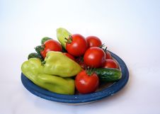 Free Tomato, Sweet Peper And Cucumber Royalty Free Stock Image - 6388456