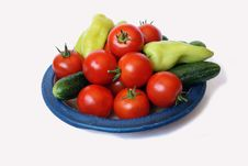 Free Tomato, Sweet Peper And Cucumber Royalty Free Stock Photography - 6388457