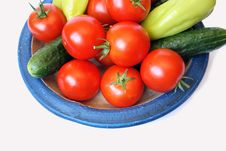 Free Tomato, Sweet Peper And Cucumber Stock Photos - 6388463