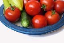 Free Tomato, Sweet Peper And Cucumber Stock Images - 6388464